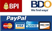 BPI, BDO, Paypal